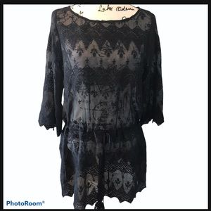 Johnny was 4love&liberty black sheer dress coverup
